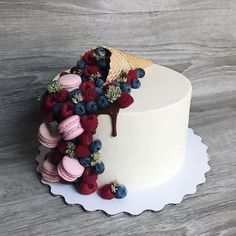 All Time Easy Cake : Good morning, I do not know what to write, just to . Pretty Cakes, Cute Cakes, Beautiful Cakes, Amazing Cakes, Crazy Cakes, Fancy Cakes, Birthday Cake Decorating, Cake Decorating Techniques, Drip Cakes