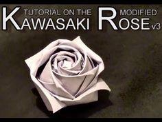 Conrad's Modified Kawasaki Origami Paper Rose - Tutorial v3. : Conrad Chou - youtube