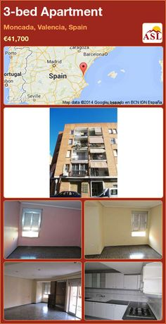 3-bed Apartment in Moncada, Valencia, Spain ►€41,700 #PropertyForSaleInSpain
