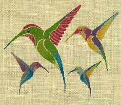 Bird/Hummingbird/animal Counted Cross Stitch by crossstitchgarden, $3.95