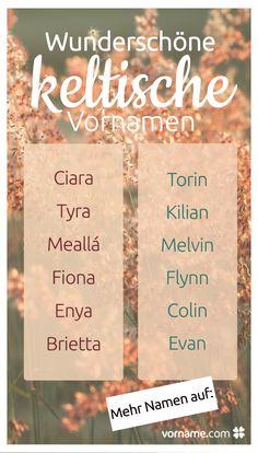 Keltische Vornamen sind heutzutage sehr modern. Sie sind schlicht und außergewöhnlich und haben oftmals eine tolle Bedeutung. In unserer Liste findest Du die schönsten keltischen Vornamen!