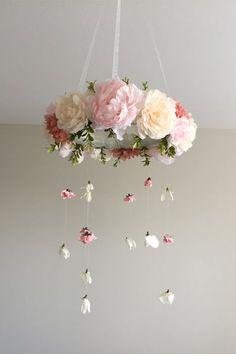 Four-step DIY floral nursery mobile - Stuckonyou