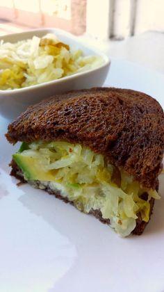 Avocado Reuben. The BEST sandwich EVER! #Vegan