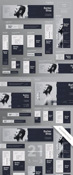 Stand out of the crowd with a perfect banners pack. Big set of banners – 21 various forms and sizes to improve the look of your website, social media pages as Web Banner Design, Design Web, Web Banners, Creative Advertising, Advertising Design, Web Layout, Layout Design, Mobile Banner, Logos Retro