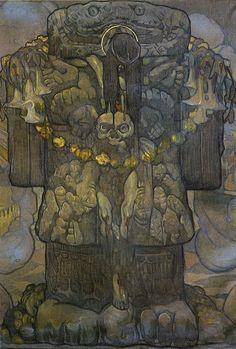 """Coatlicue transformada"", 1918 by Mexican painter Saturnino Herrán."