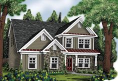 House Plan 009-00231 - Narrow Lot Plan: 2,260 Square Feet, 4 Bedrooms, 2.5 Bathrooms