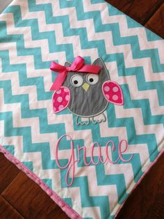 Personalized Baby Blanket Minky Baby Blanket by FunnyFarmCreations, $47.00