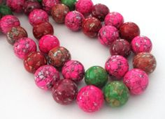 Assorted Color Round Beads  Mosaic Round Beads  Ball by BijiBijoux