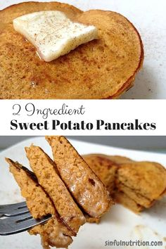 These sweet potato pancakes require just two simple ingredients, making them an quick & easy paleo and gluten-free breakfast. These sweet potato pancakes require just two simple ingredients, making them a quick & easy paleo and gluten-free breakfast. Breakfast Desayunos, Breakfast Recipes, Recipes Dinner, Easy Paleo Breakfast, Sweet Potato Breakfast, Sweet Potato Dessert, Sweet Potato Toast, Lunch Recipes, Dinner Ideas