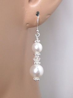 Kylie++BRIDAL+SET++Pearl+Drop+Bridal+Jewelry+by+AuroraJewelryBox,+$56.00