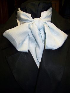 Ascot or Carvat soft Blue silky fabric 4 x 60 Mens by civilwarlady, $14.95
