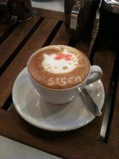 Hello kitty Latte art for Sisca