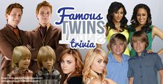 Are you seeing double? Test your knowledge of famous twins!