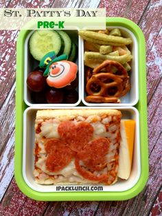 Packing for Preschoolers bento lunch tips, St. Patrick's Day Lunch
