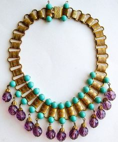 Vintage Miriam Haskell necklace at Lovely's Vintage Emporium.