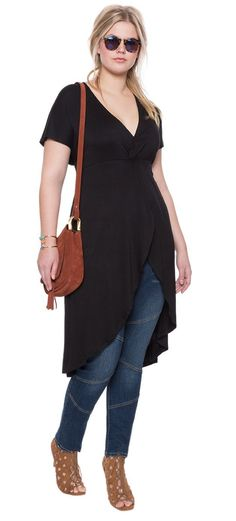 Plus Size Knot Front Maxi Top