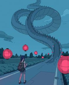Undermatic Art And Illustration, Creative Illustration, Landscape Illustration, Art Illustrations, Art Inspo, Kunst Inspo, Fantasy Kunst, Fantasy Art, Anime Kunst