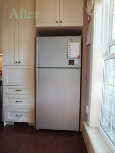 Refinished my tired old fridge with stainless steel paint and I am so happy with how it turned out!