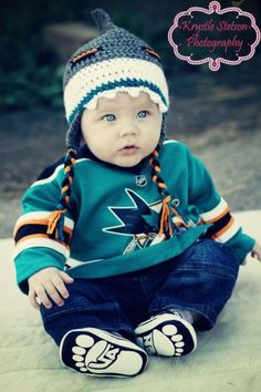 Pepe Children Shoes on San Jose Sharks Hat Lemonade Couture