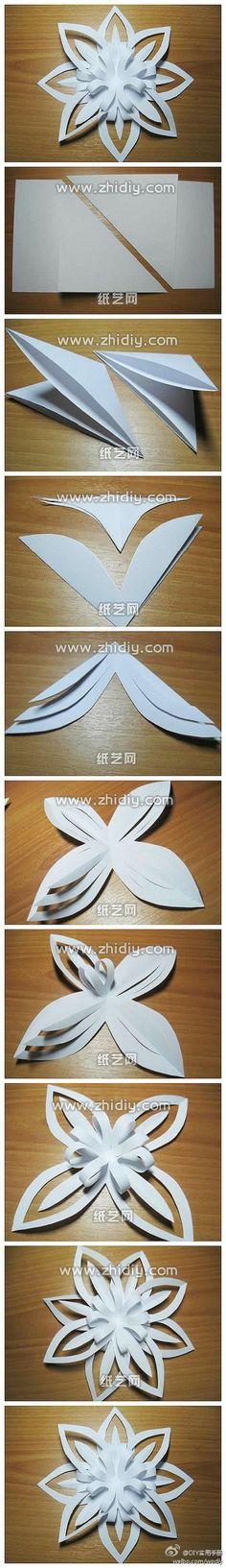 教大家剪出漂亮的花朵,很漂亮哦~(纸艺网……_来自掉进咖啡杯的图片分享-堆糖网