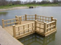 Check Out These Top landscaping Ideas and Tips to Improve Your backyard Lake Dock, Boat Dock, Building A Dock, Farm Pond, Dock Of The Bay, Floating Dock, Lakeside Living, Pond Landscaping, Fish Ponds
