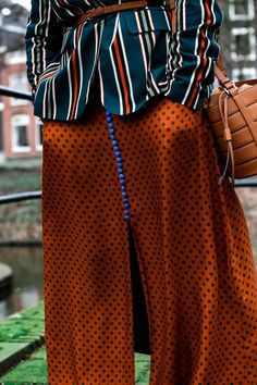 Polka Dots Skirt // Stripes Jacket