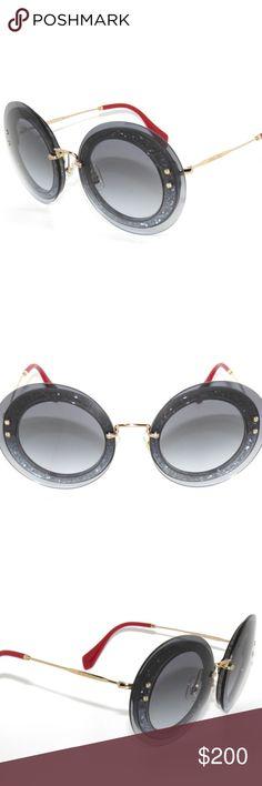 Sunglasses UES-4R2 Miu Miu SMU10R silver glitter//blue shaded