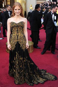 Oscars 2012: Jessica Chastain in Alexander McQueen - Bilder