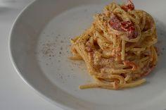 tomato & goat cheese pasta