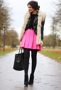 I wouldn't wear the pink lol but I love the layering