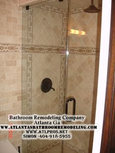 Custom Ivory Travertine Shower in Atlanta GA