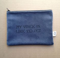 my voice is like velvet pouch on Etsy, $20.00