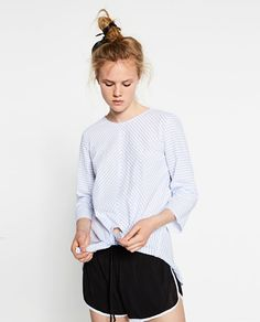 ZARA - WOMAN - BLOUSE WITH FRONT KNOT