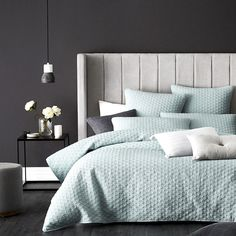 The perfect quilted design to start your styling journey, the Praguequilt cover is simple and elegant. The use of a cotton and polyester blend means little to no ironing is required to keep this design looking its best. Standard and European pillowcases are available so you can mix match colours to your liking.