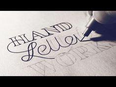 Handletteren - Kleine Letters Alfabet Oefenen - YouTube