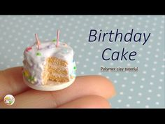 [Stop Motion] Birthday Cake Tutorial / Tutoriel Fimo Gâteau d'Anniversaire - YouTube