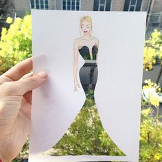 Armenian fashion illustrator Edgar Artis uses stylized paper cut outs and everyday objects to create beautiful dresses. His creative fashion sketches include such items as rose petals, various plants and food, even buildings. Art And Illustration, Fashion Illustration Collage, Illustrations, Everyday Objects, Textile Artists, Fashion Sketches, Cute Art, Amazing Art, Fashion Art