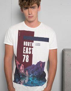 'T-shirt estampada.North eas. colagem' - T-shirts - Bershka Portugal
