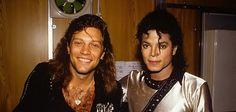 Michael Jackson and Jon Bon Jovi (Bad Era)