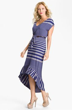 FELICITY & COCO High/Low Stripe Jersey Dress   Nordstrom     Love the anniversary sale! I like the black grey version better!