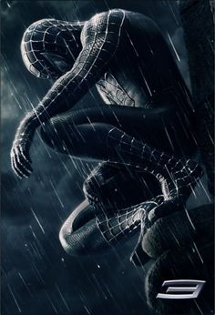 "A fantastic poster from the Marvel Comics movie Spider-man Peter Parker as the symbiote Venom! Check out the rest of our amazing selection of Spider-Man posters - the best on the ""web""! Need Poster Mounts. Black Spiderman, Spiderman Noir, Amazing Spiderman, Spiderman Sam Raimi, Spiderman Tattoo, Spiderman Costume, Spiderman Marvel, Film Venom, Venom Movie"