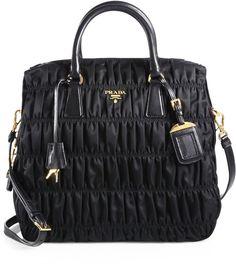 61016f5fa90 Tessuto Gaufre Large Nylon Satchel - Prada on Lyst Prada Bag Black