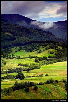 'Fields, mountains and light' Pohronska Polhora, Slovakia by stano szenczi