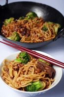 Healthy Lunch Recipe: Honey soy beef and vegetable stir fry with noodles Recipe