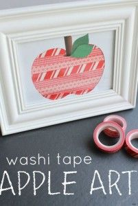 Fine Motor Activity of the Week: Washi Tape Apple Activity - -pinned by @PediaStaff – Please Visit ht.ly/63sNtfor all our pediatric therapy pins