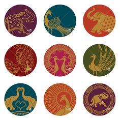 Sari Peacock Elephant Ornaments - Printable Digital Sheet - Buy 2, Receive 1 FREE. $7.00, via Etsy.