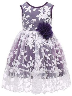 Buy Rustic Bridesmaid Lace Sleeveless Flower Girl Dress - Purple - online, more latest style of Girls' Special Occasion Dresses sale at affordable price. Purple Flower Girls, Purple Dress, Little Girl Dresses, Girls Dresses, Flower Girl Dresses, High Low Chiffon Dress, Girls Special Occasion Dresses, Bridesmaid Dresses, Wedding Dresses