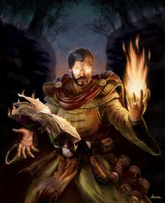 Fire Mage character card by ~DaCas on deviantART