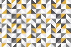 An enthralling, if not hypnotizing, design radiates from the Yellow & Grey Abstract Geometric Pattern Wallpaper.