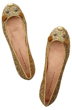 I wanted the Marc by Marc Jacobs flats for sooo long.  And now that these ballet flats come bedazzled: perfect.